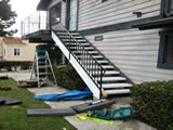 Stair stringer replacement